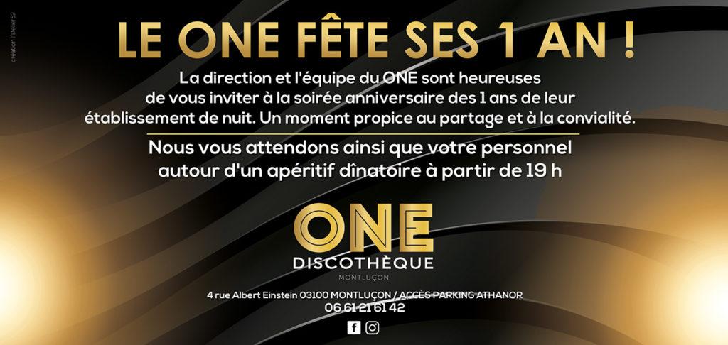 one discothèque invitation