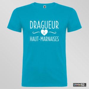 dragueur haut-marnais tee shirt bleu profond