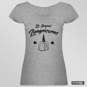 tee shirt langricorne haute-marne basé sur le fromage de Langres gris